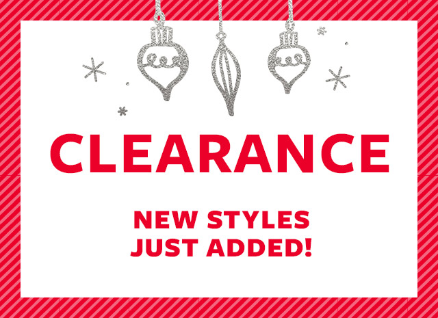 clearance | new styles just added!