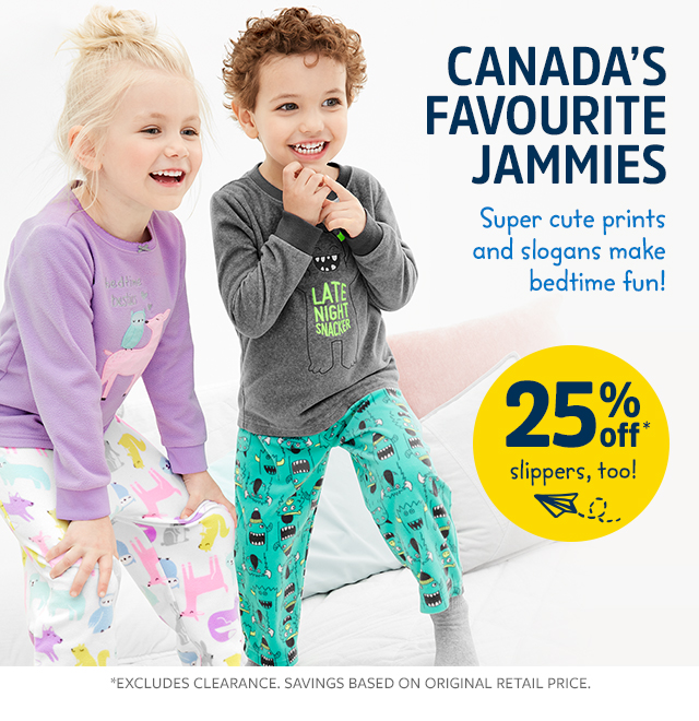 jammies 25% off