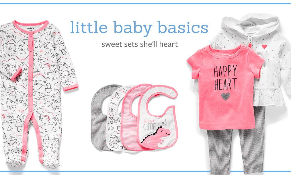 little baby basics sweet sets she'll love