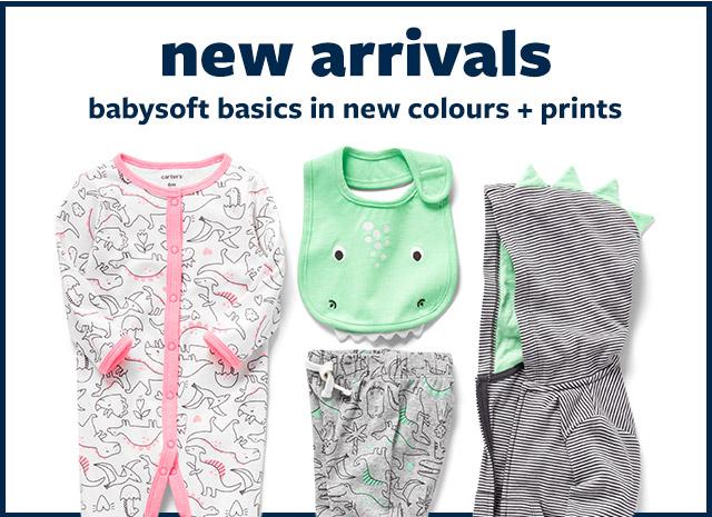 new arrivals | babysoft basics in new colours + prints