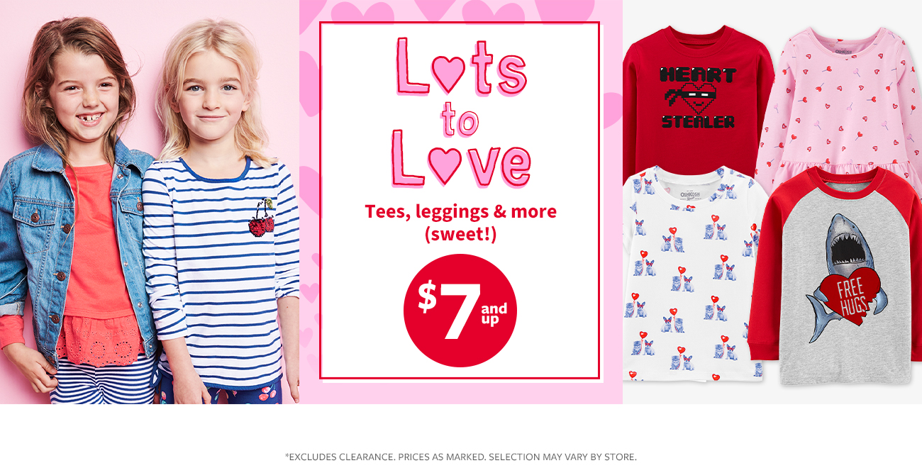 lots to love tees, leggings & more (sweet!) $7 and up