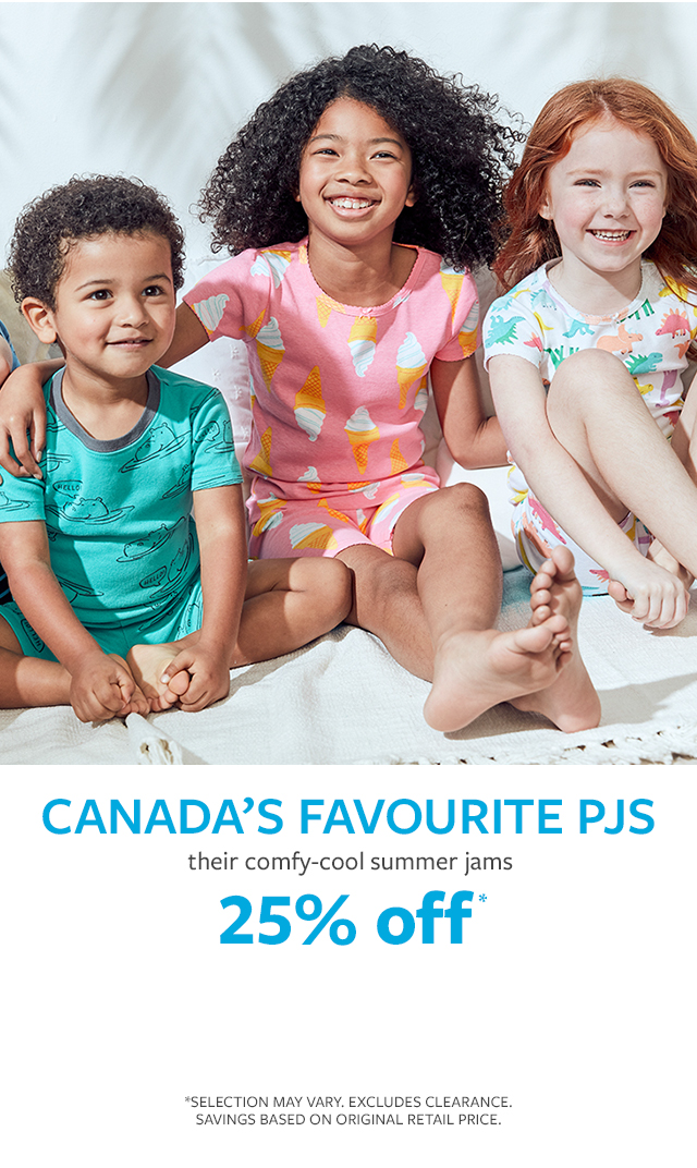 canads's favourite pjs | their comfy-cool summer jams | 25% off*
