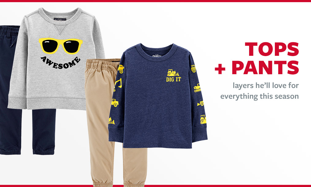 tops + pants | layers he'll love for everything this season