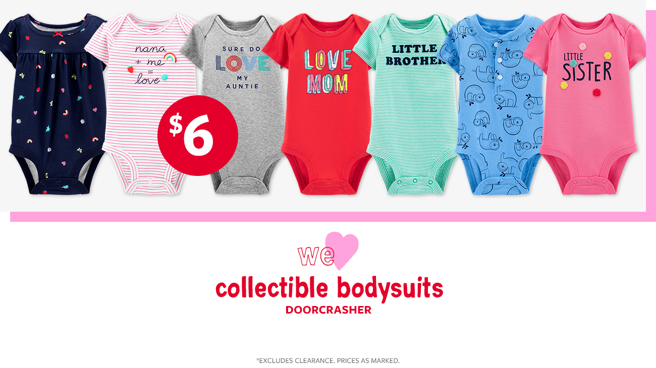 collectable bodysuits $6 doorchrashers