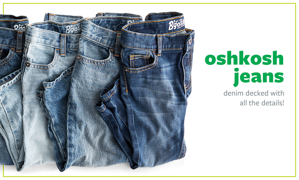 oshkosh jeans | denim decked with all the details!