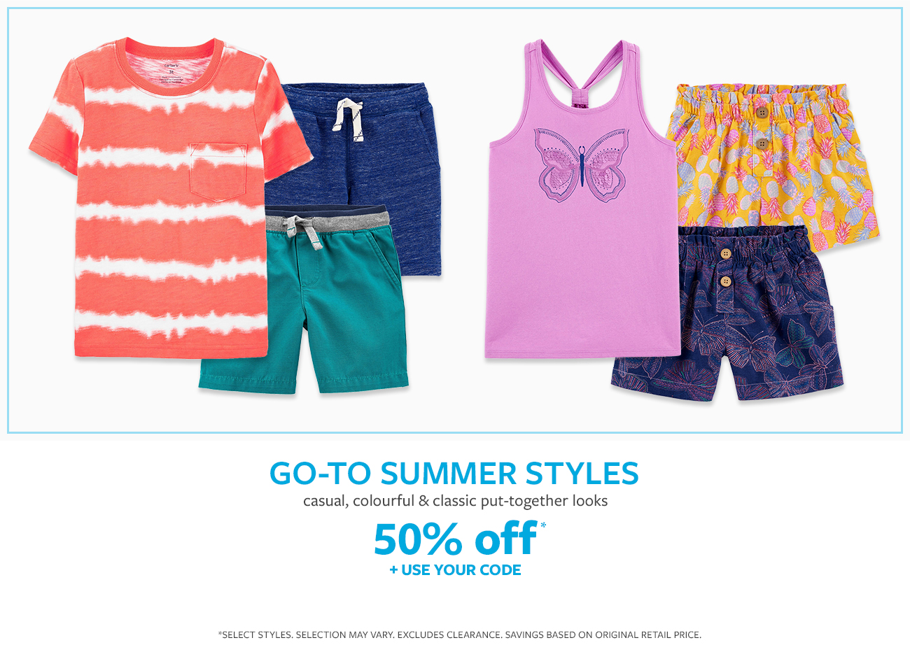Go to summer styles | casual, colorful & classic put-together looks | 50% off + use your code