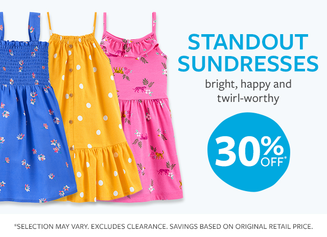 standout sundresses | bright, happy and twirl-worthy | 30% off