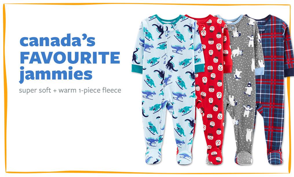 canada's FAVOURITE jammies | super soft + warm 1-piece fleece