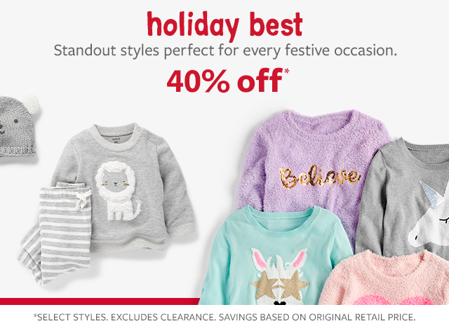 holiday best standout styles perfect for every festive occasion  40% off fashion tops, bottoms & more!