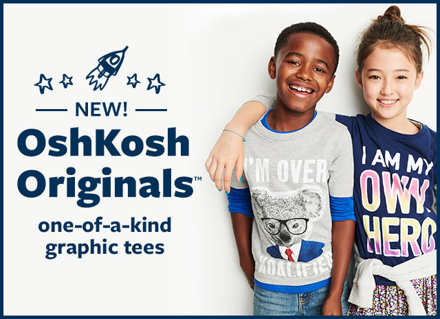 new! oshkosh originals | one-of-a-kind graphic tees