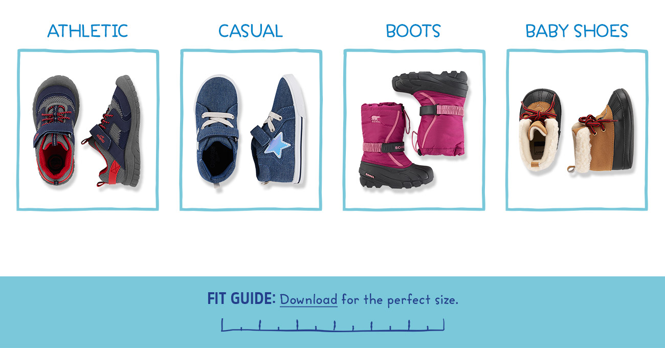 ATHLETIC | CASUAL | BOOTS | BABY SHOES | FIT GUIDE: Download for the perfect size.