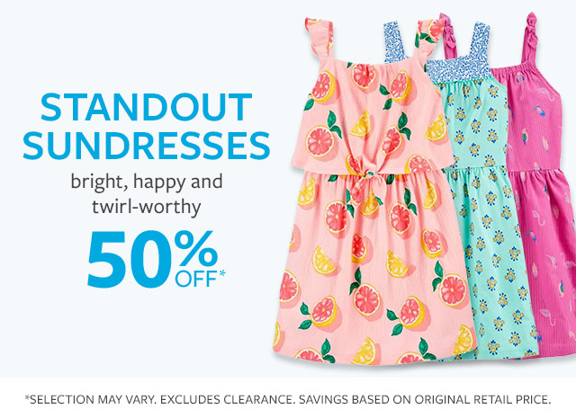Standout sundresses | bright, happy and twirl-worthy | 50% off*