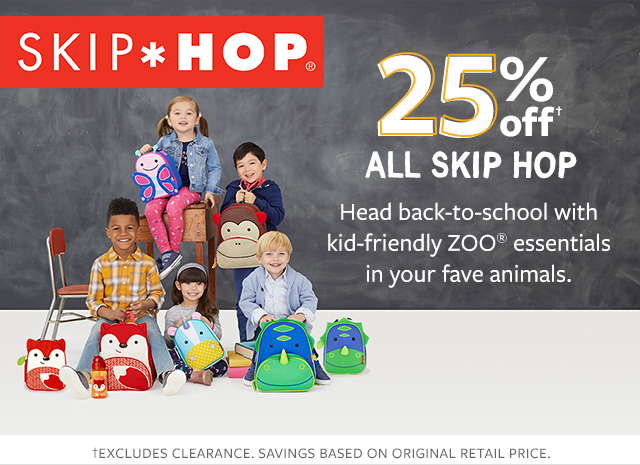 25% off all skip hop