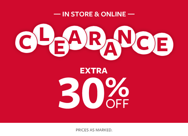in store & online | Clearance | extra 30% off