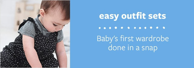 easy outfit sets | Baby's first wardrobe done in a snap
