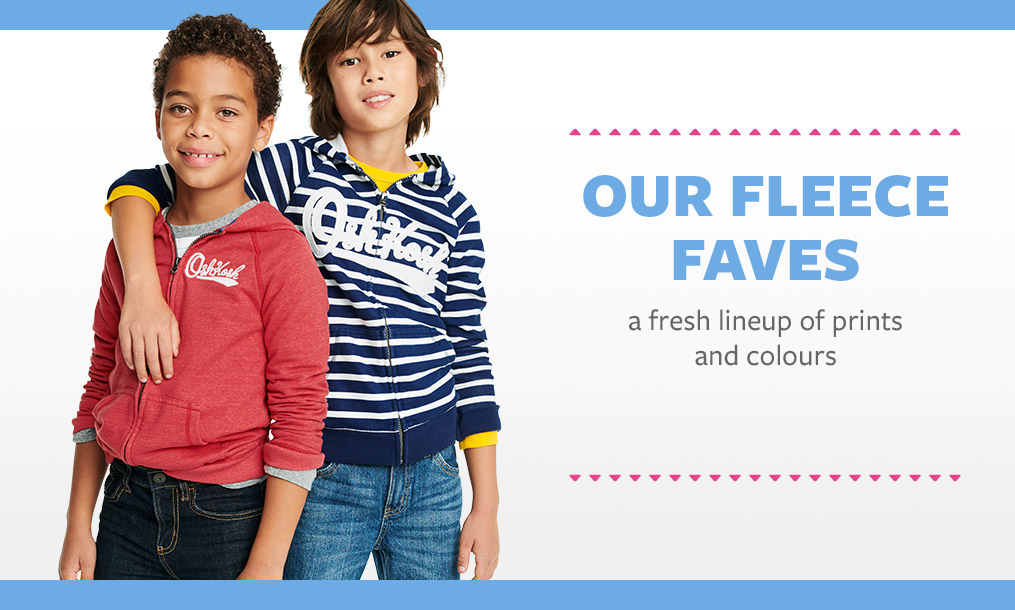 our fleece faves | a fresh lineup of prints and colours