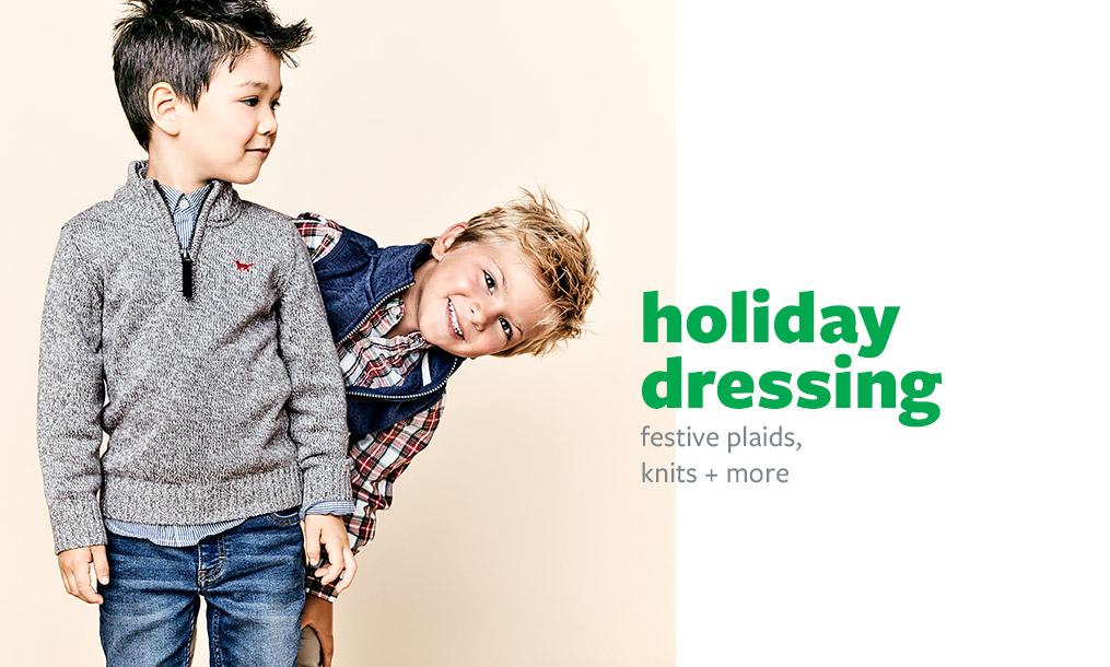 holiday dressing | festive plaids, knits + more