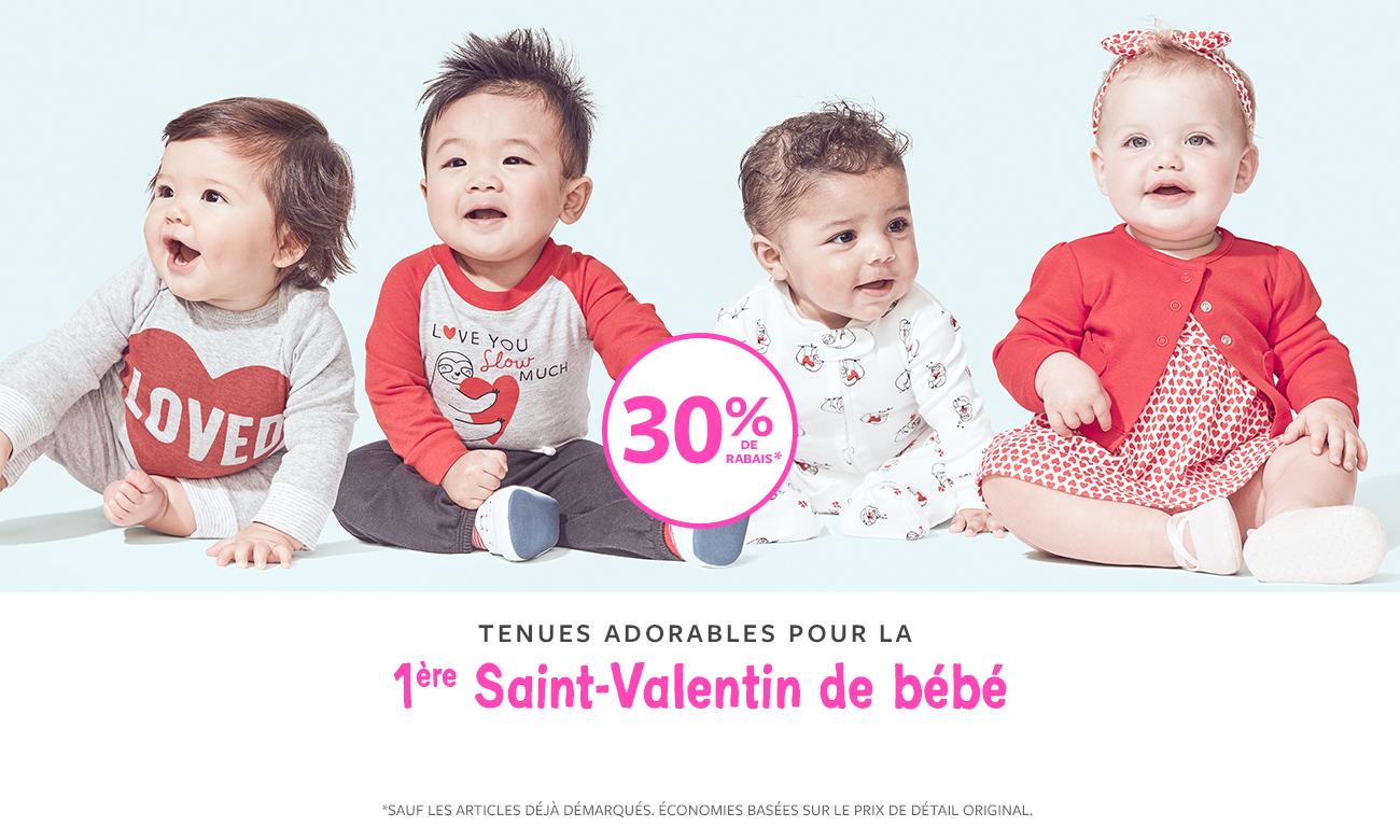 tenues adorables pour la 1ère saint-valentin de bébé