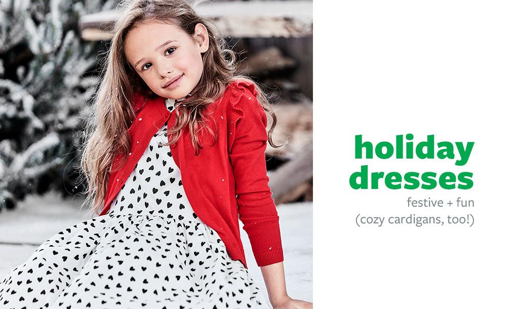 holiday dresses | festive + fun (cozy cardigans, too!)