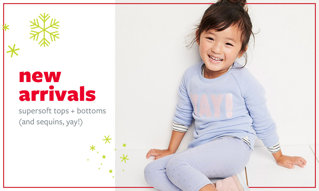 new arrivals | supersoft tops + bottoms (and sequins, yay!)