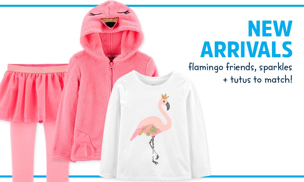 NEW ARRIVALS | flamingo friends, sparkles + tutus to match!