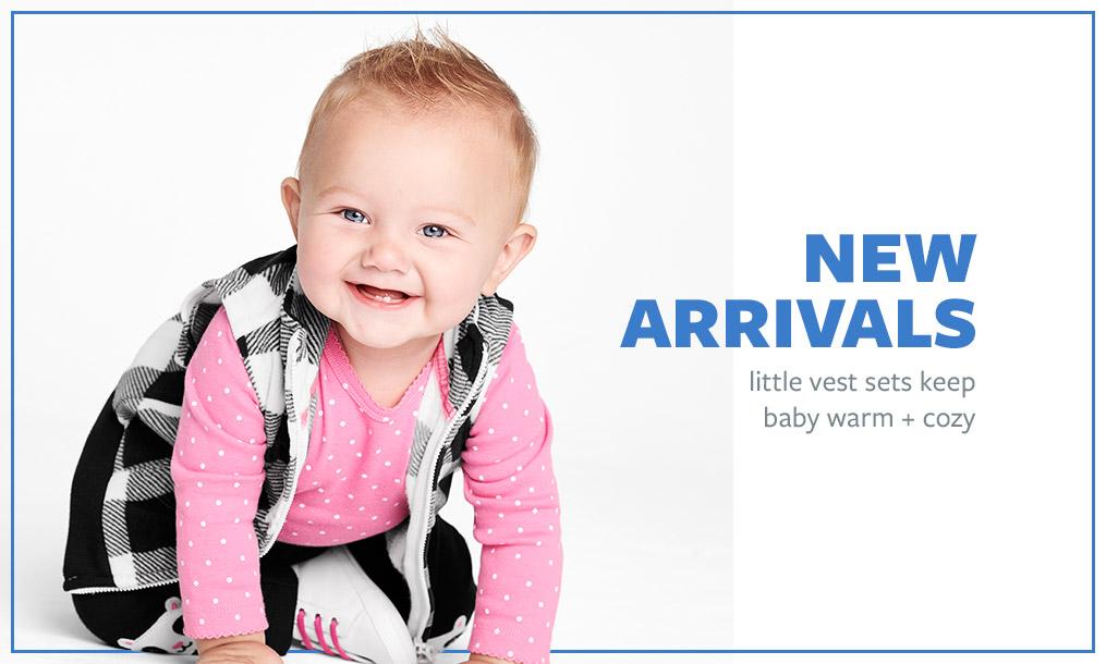 NEW ARRIVALS   little vest sets keep baby warm + cozy