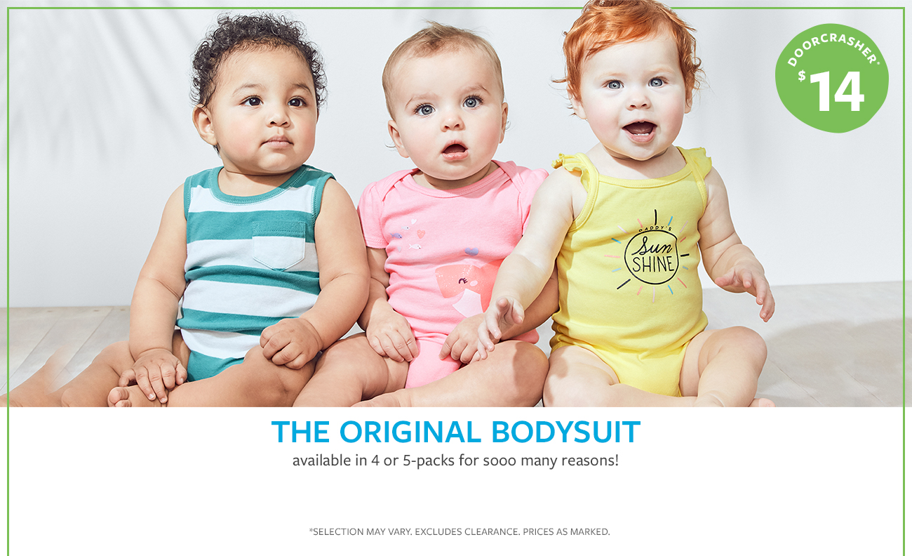 THE ORIGINAL BODYSUIT | available in 4 or 5-packs for sooo many reasons! | DOORCRASHER* $14