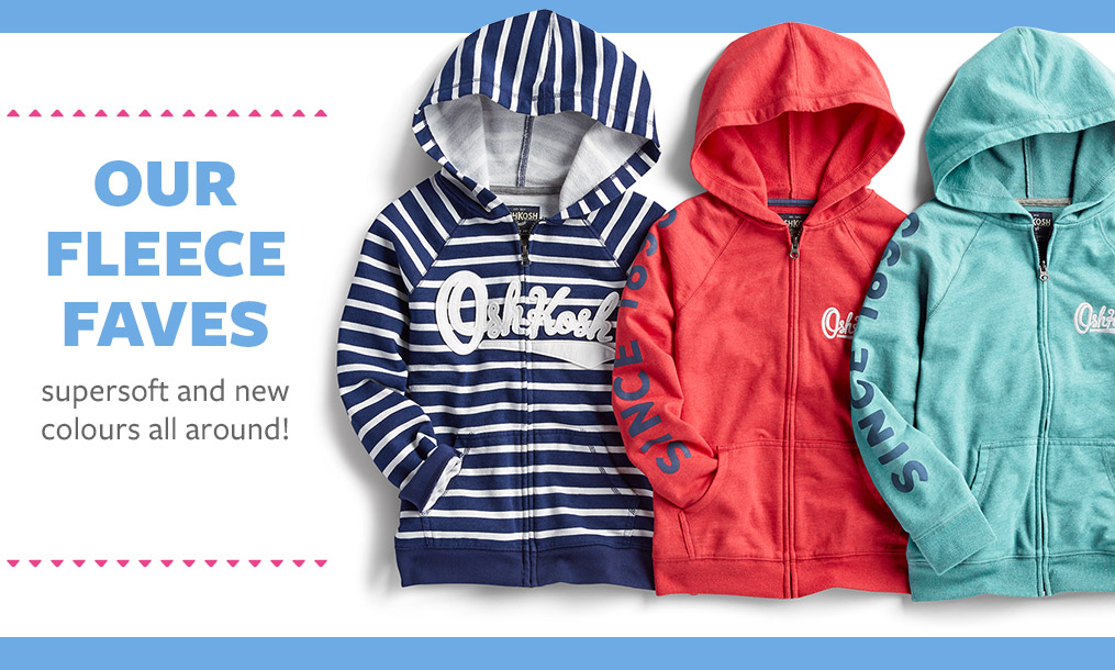 our fleece faves   supersoft and new colours all around!