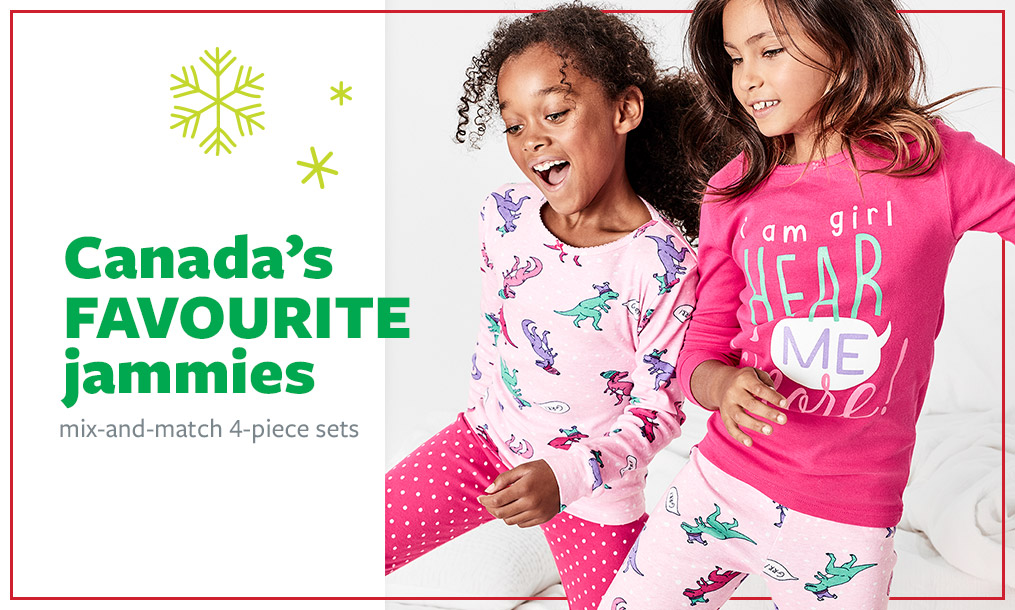 Canada's favourite jammies | mix-and-match 4-piece sets