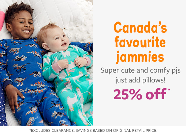 25% off Canada's favourite jammies