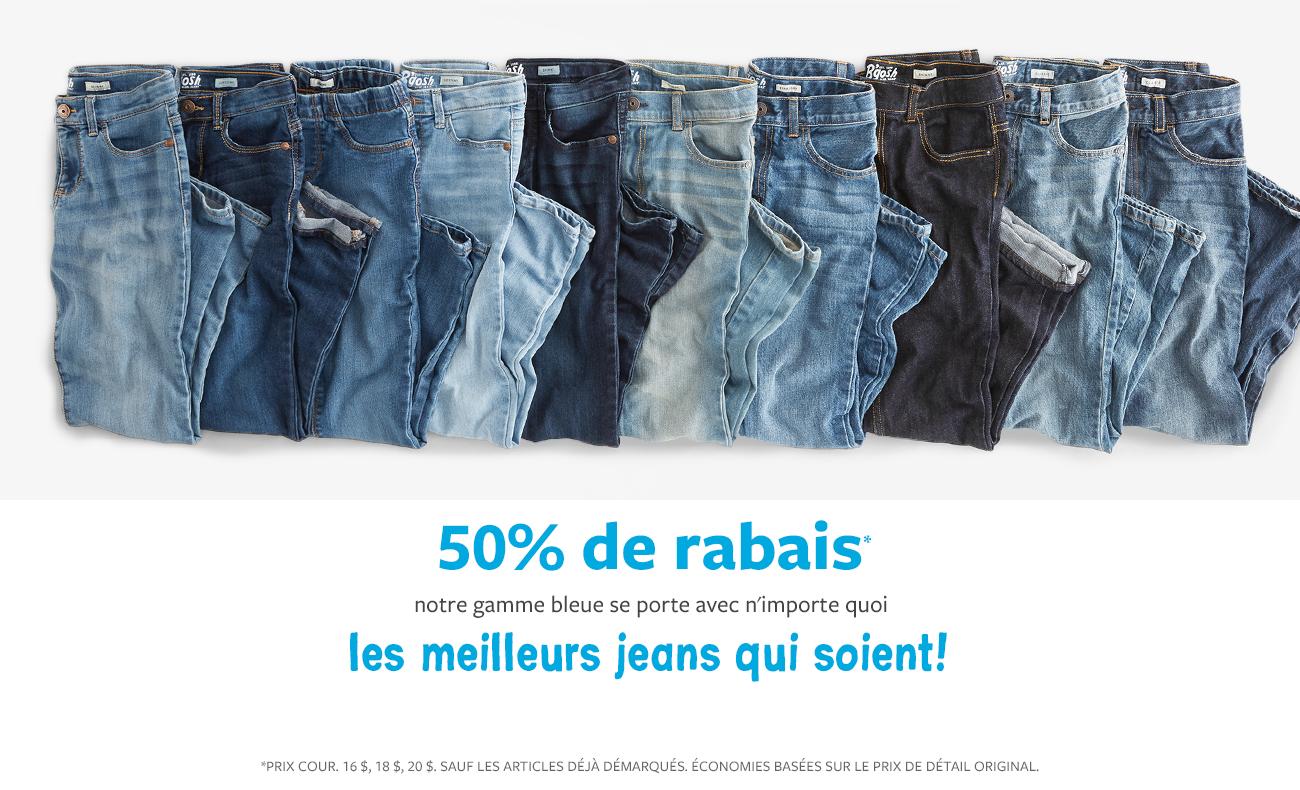 50% de rabais jeans