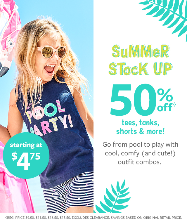 a8e859ac5ae summer stock up 50% off tees