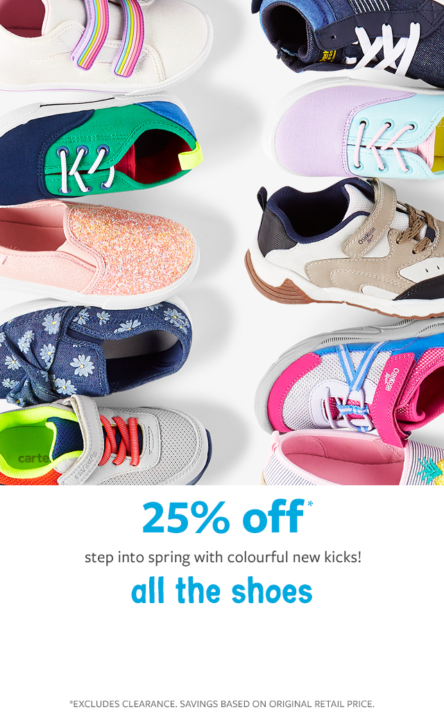 25% off all the shoes