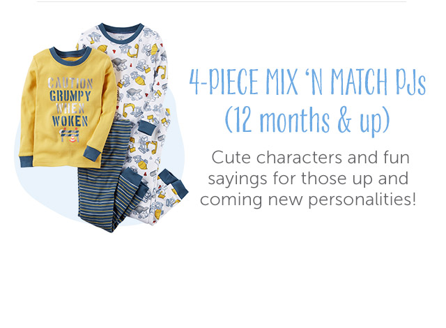 4-Piece Mix and Match Pjs (6 months and up)