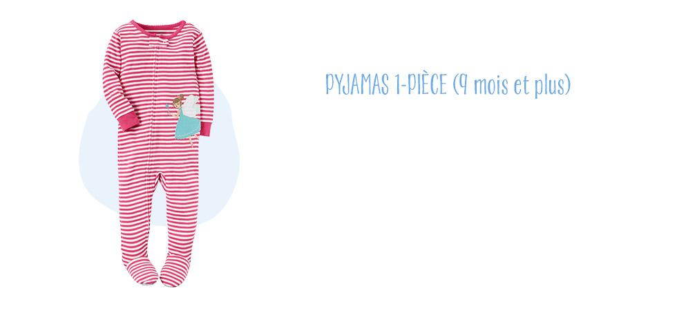 PYJAMAS 1-PIÈCE(9 mois et plus)