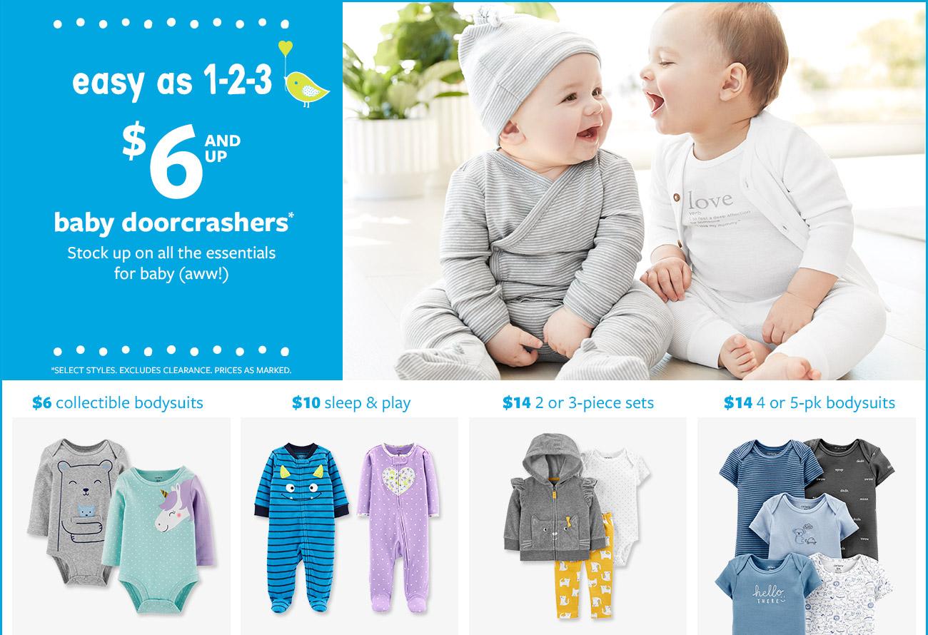 $6 and up baby doorcrashers