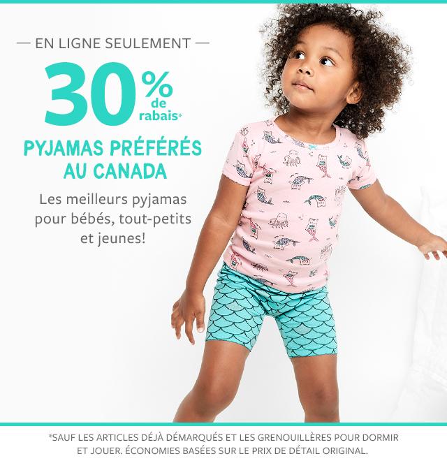 en ligne seulement 30% de rabais pyjamas préférés au canada   les meilleurs pyjamas pour bébés, tout-petits et jeunes!