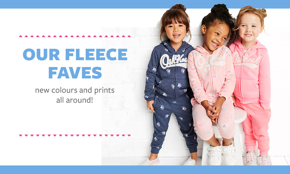 our fleece faves new colours and prints all around!