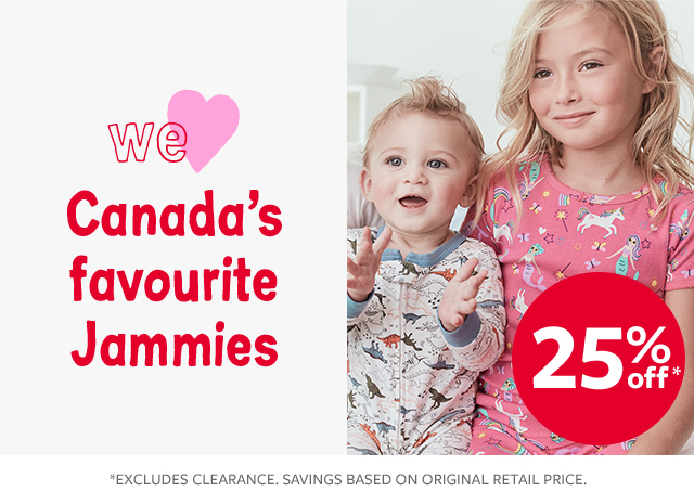 we love canada's favourite jammies 25% off