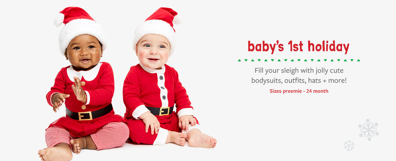 baby's first holiday | Sizes preemie-24