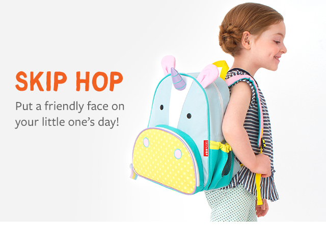 skip hop Put a friendly face on your little one's day!