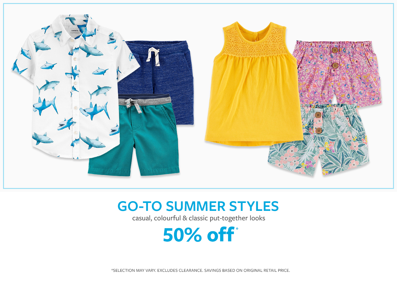 Go to summer styles | casual, colorful & classic put-together looks | 50% off