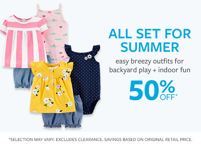 All set for summer | easy breezy outfits for backyard play + indoor fun | 50% off*