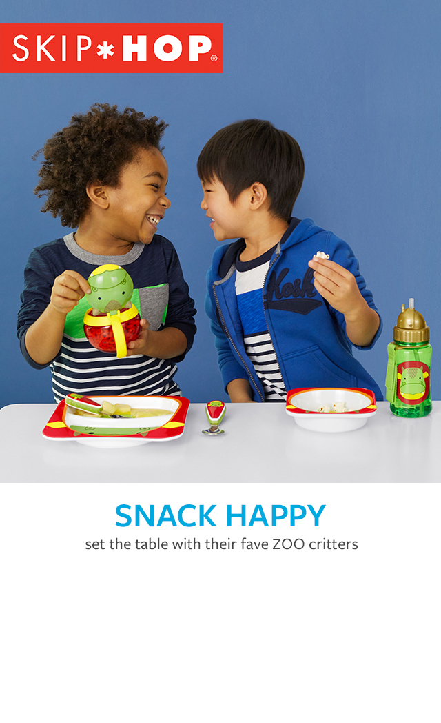 Snack happy | set the table with their fave ZOO critters