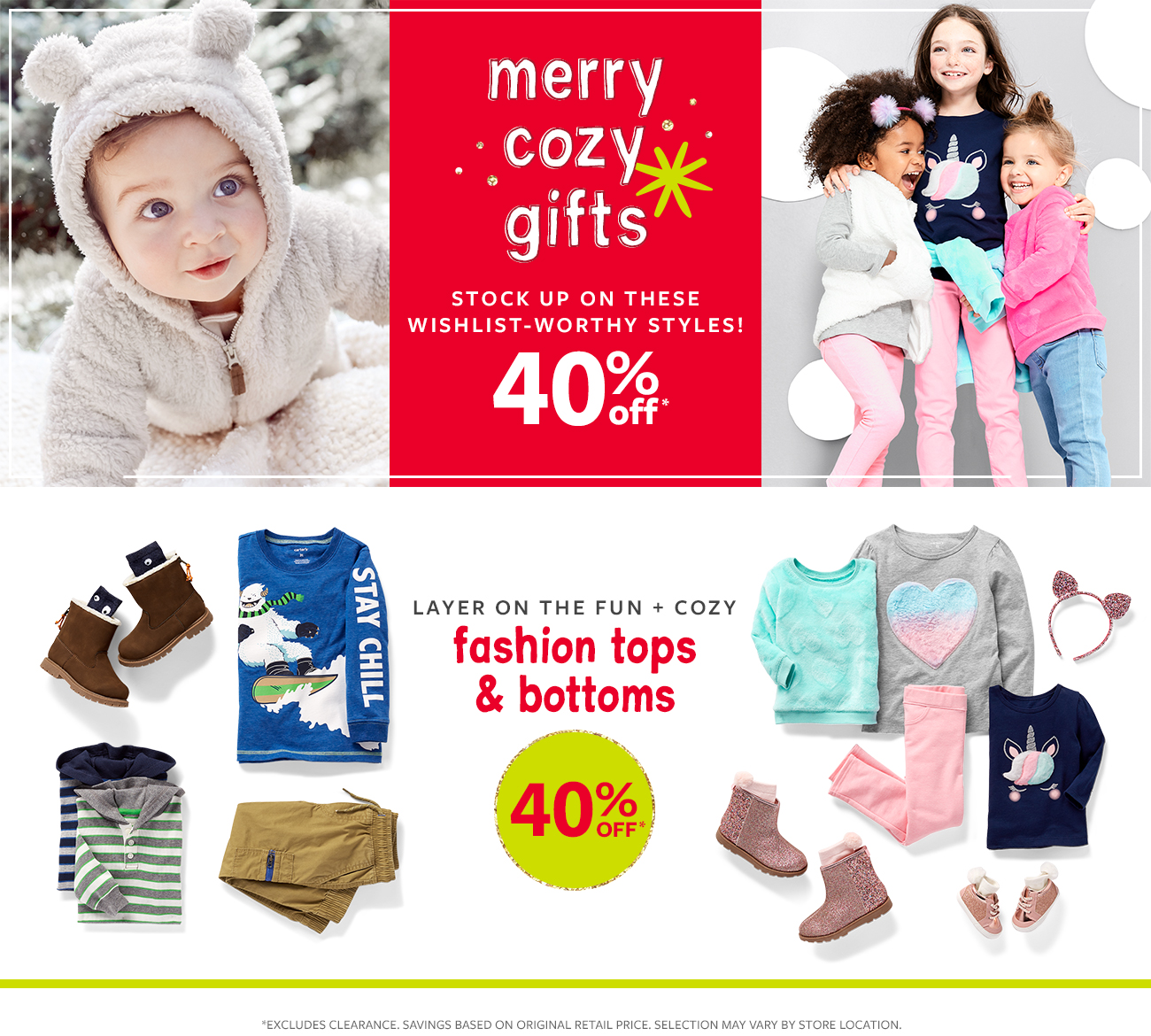 merry cozy gifts stock up on these wishlist-worthy styles! 40% off