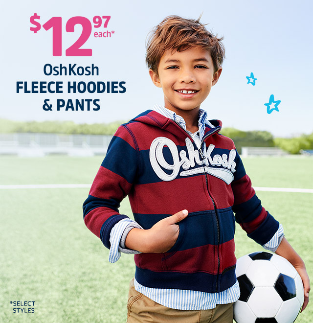 12.97 OSH KOSH FLEECE HOODIES AND PANTS