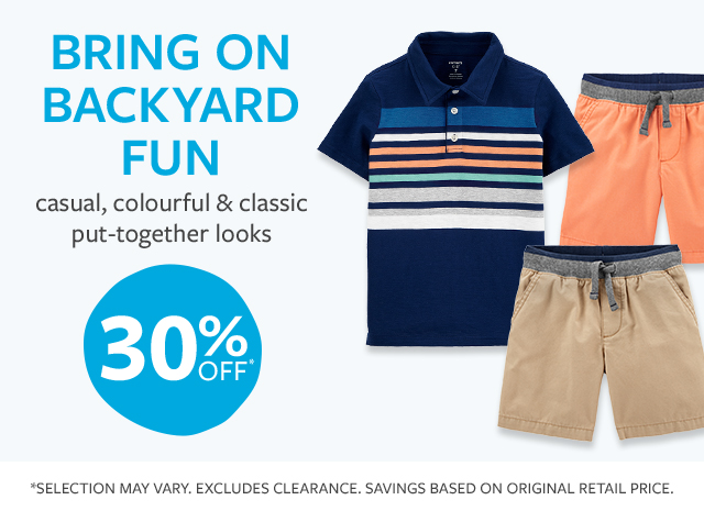BRING ON BACKYARD FUN | casual, colourful & classic put-together looks | 30% off*