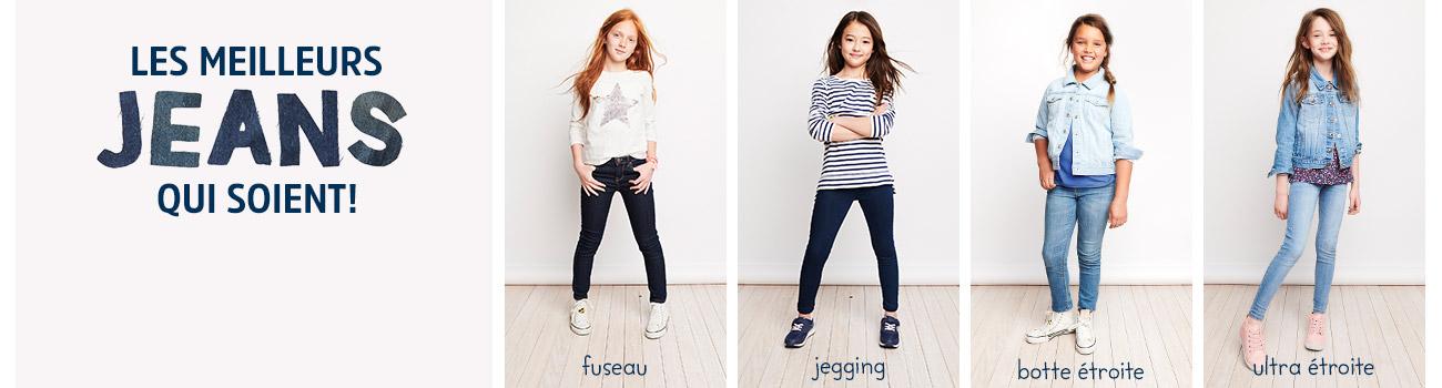 LES MEILLEURS JEANS QUI SOIENT! Des jeans pour filles dans des coupes pour chaque enfant et des modèles pour chaque jour, conçus pour faire (quasiment) tout. fuseau | jegging | botte étroit | ultra étroit