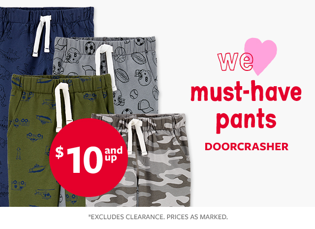 we love must-have pants doorcrasher $10 and up