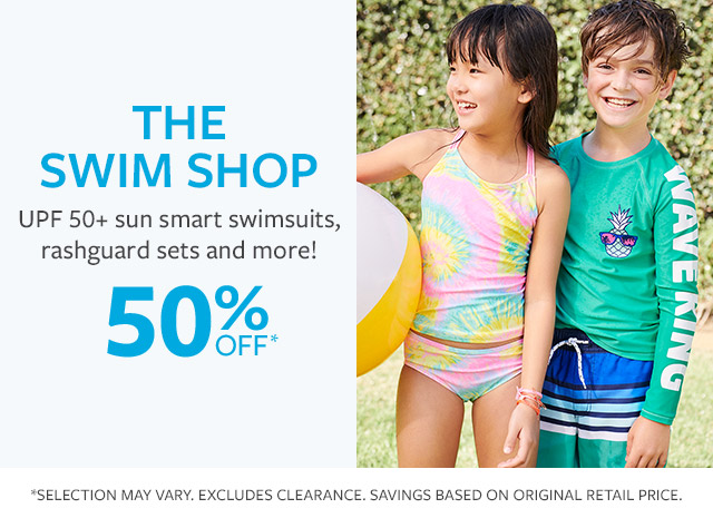 the swim shop | upf 50+ sun smart swimsuits, rashquard sets and more! 50% off*